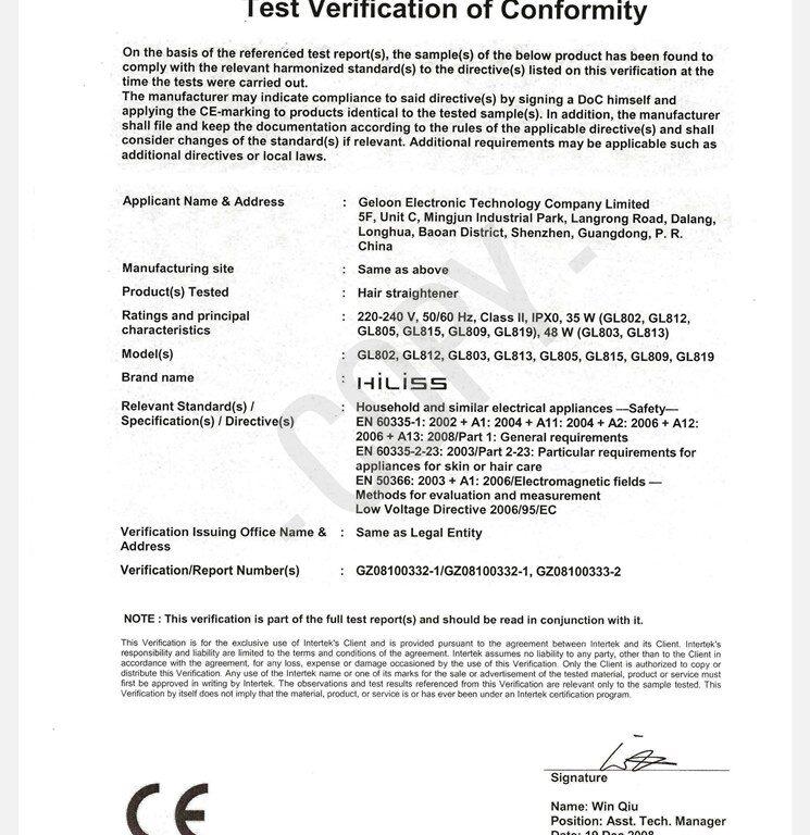Geloon CE certificate